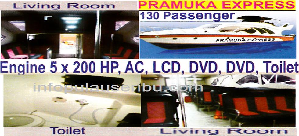 KM Pramuka Express - Kapasitas : 120pax