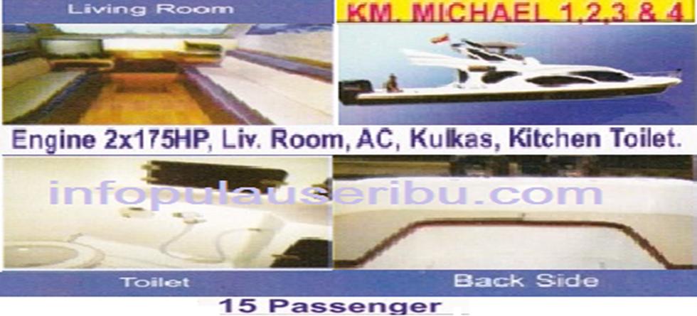 KM. Michael - Kapasitas : 14 pax
