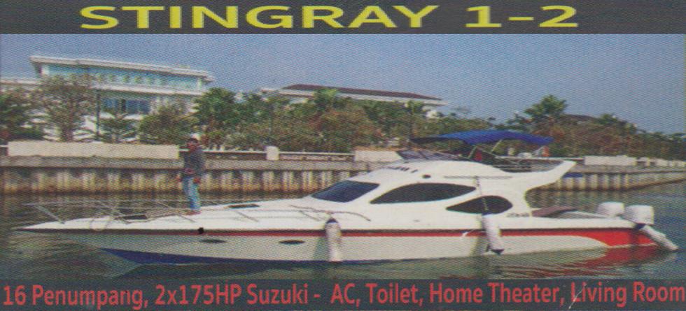 KM. Stingray - Kapasitas : 16 pax