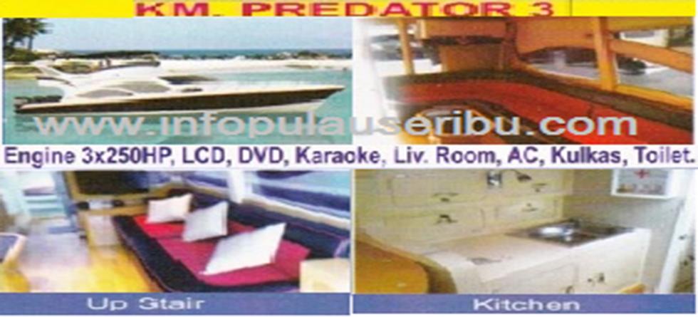 KM. Predator - Kapasitas : 25 pax