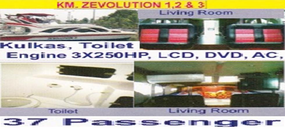 KM. Zevolution - Kapasitas : 37 pax