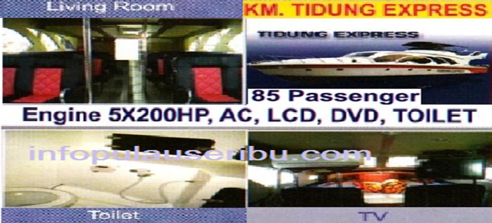 KM. Tidung express - Kapasitas : 85 pax