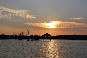 foto sunset pulau pari