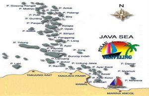 peta ke pulau pramuka